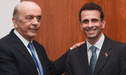 Serra recebe o governador de Miranda Henrique Capriles